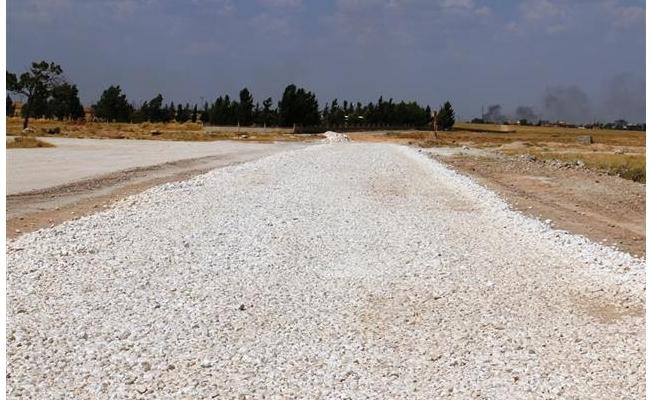 Akçakale-Suruç çevre yolu stabilize çalışması başladı