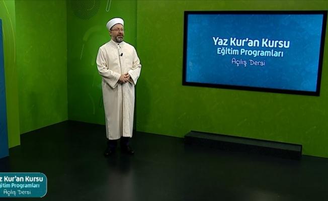 Uzaktan eğitimle yaz Kur'an kursu başladı