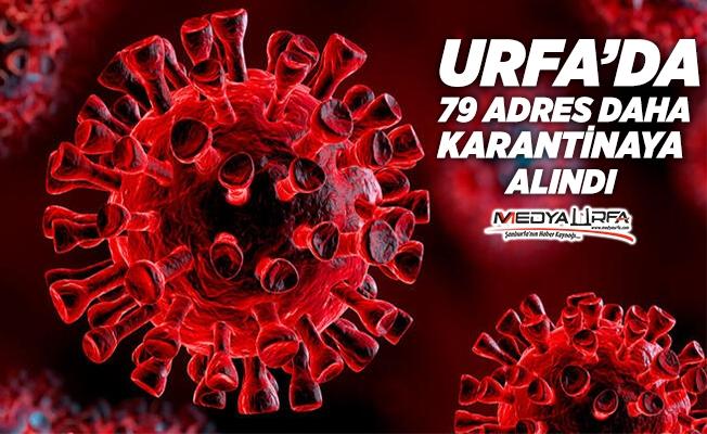 Urfa'da 79 adres karantinaya alındı