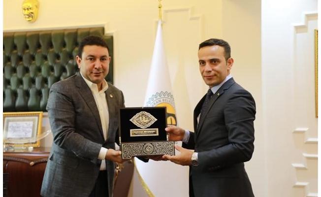 Harran Kaymakamı, Başkan Özyavuz'u ziyaret etti