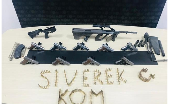 Siverek'te uzun namlulu silahlar ele geçirildi