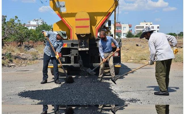 Siverek'te sıcak asfalt çalışması
