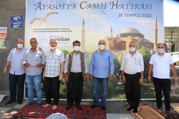 Siverek'te Ayasofya için hatıra standı kuruldu