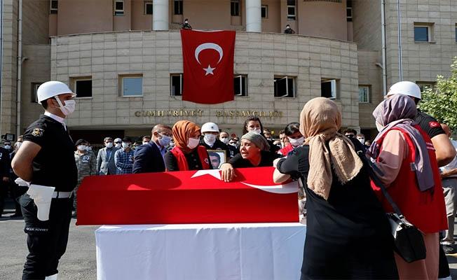 Urfa'da vefat eden savcı için tören düzenlendi