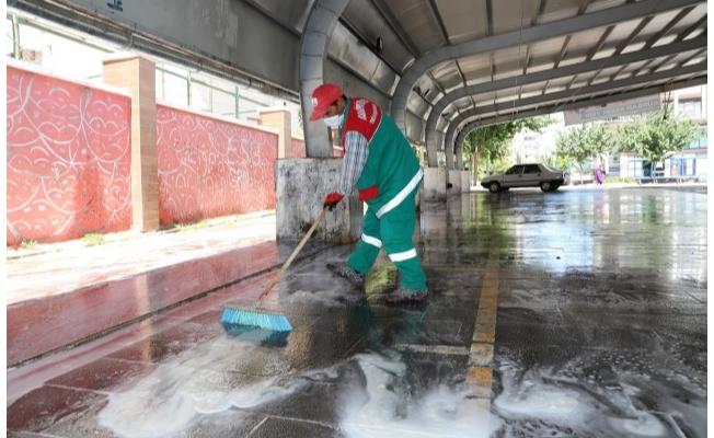 Karaköprü'de kesim sonrası yoğun temizlik