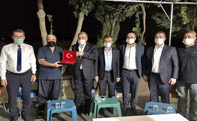 Mehmet İzol'u ziyaret ettiler