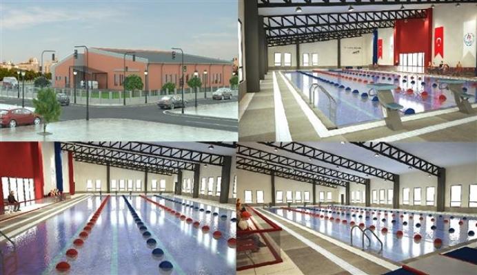 Eyyübiye'ye Yarı Olimpik Yüzme Havuzu Yapılıyor
