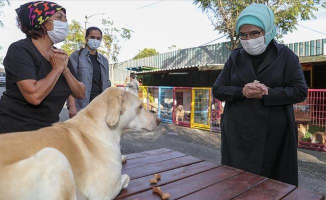 Emine Erdoğan engelli köpeği sahiplendi