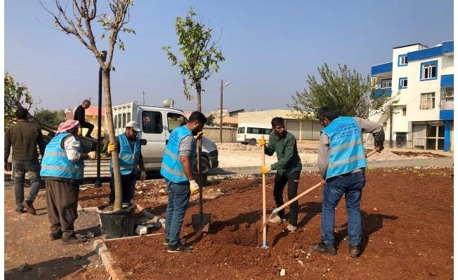 Eyyübiye kırsalında Millet Bahçesi yapımı sürüyor