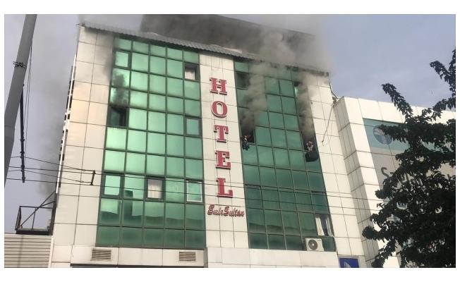 Şanlıurfa'da otelde çıkan yangın söndürüldü