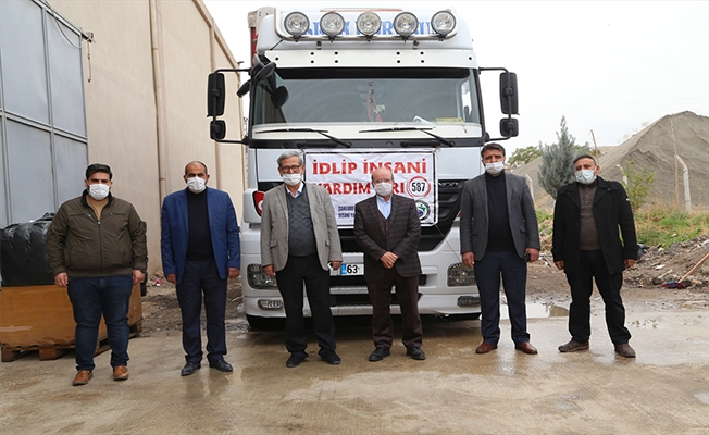 Şanlıurfa'dan İdlib'e 2 tır insani yardım