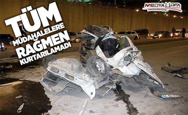 Urfa'daki feci kazadan acı haber!