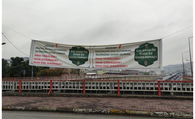 Eyyübiye'de Covid-19'a karşı uyarıcı afişler