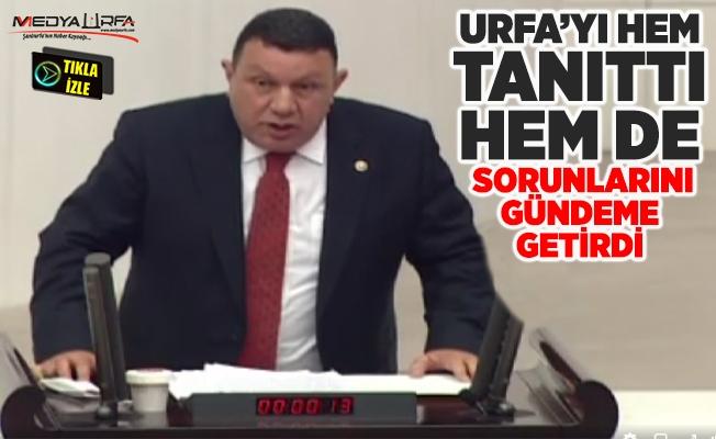 Özyavuz TBMM'de Urfa'nın sorunlarını gündeme getirdi