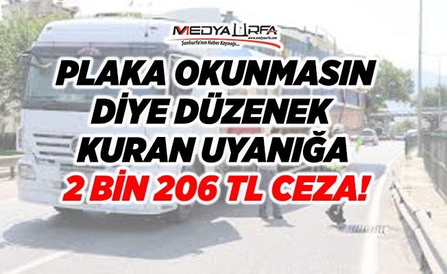 Plaka düzeneği kuran uyanık 2 bin TL ceza yedi