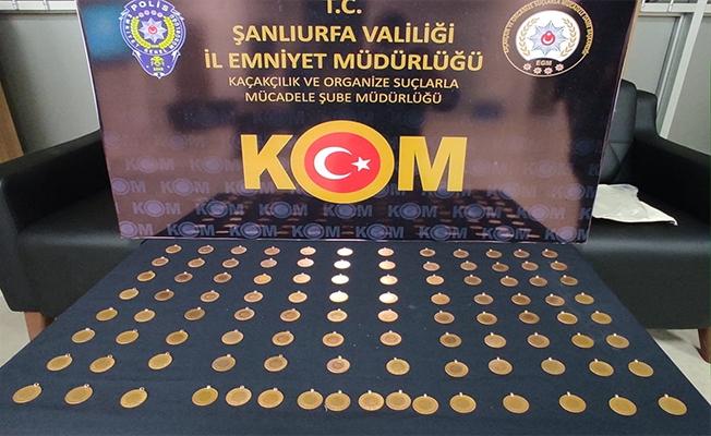 Şanlıurfa'da 100 sahte Cumhuriyet altını ele geçirildi