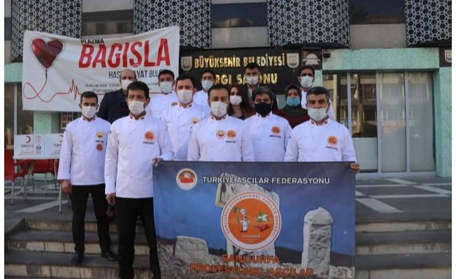 Şanlıurfa'da aşçılardan kan bağışı