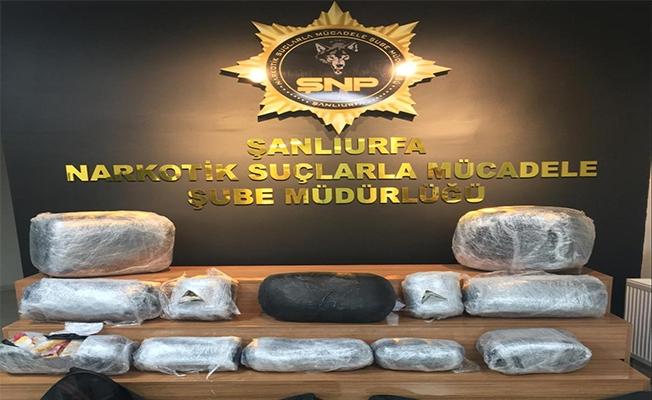 Şanlıurfa'da bir tırda uyuşturucu madde yakalandı