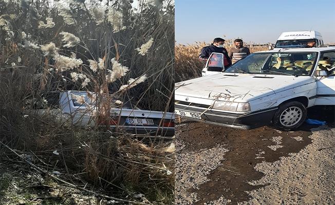 Şanlıurfa'da otomobil tahliye kanalına düştü: 1 yaralı
