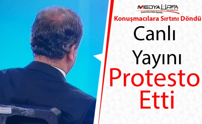 Urfalı Gazeteci Canlı Yayını Protesto Etti