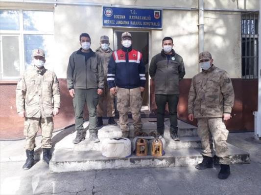 Bozova'da kaçak avlanan 2 keklik doğaya bırakıldı