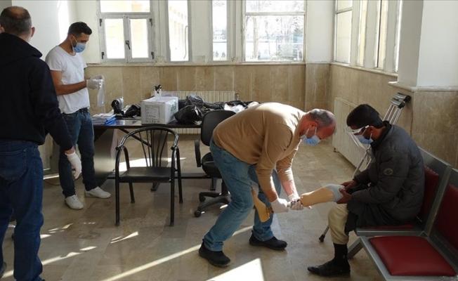 Suriye'deki savaş mağdurularına ortez-protez desteği