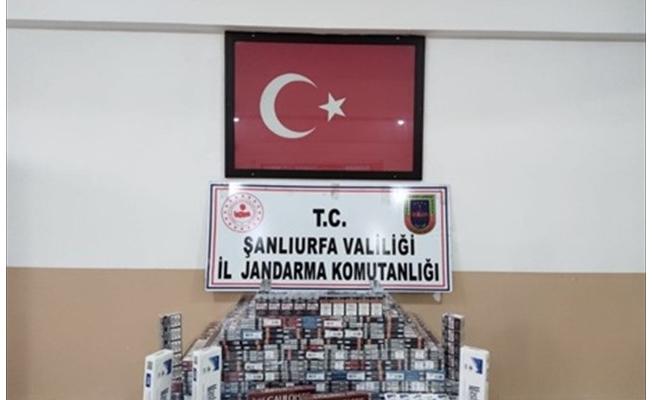 Akçakale'de binlerce paket kaçak sigara yakalandı