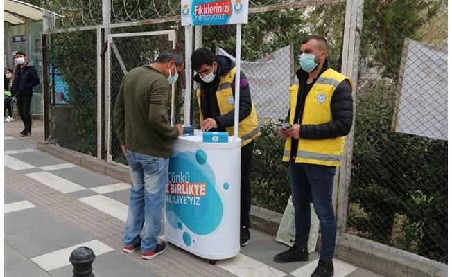 Haliliye'de vatandaşlar taleplerini sahada iletiyor