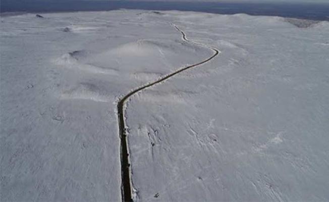 Karacadağ bölgesine kar yağdı