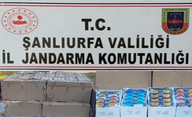 Şanlıurfa'da kaçak makaron ve güneş gözlüğü yakalandı