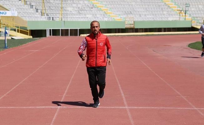 Urfalı milli atlet olimpiyat hedefi için ter döküyor