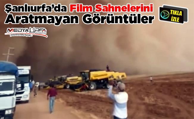 Şanlıurfa'daki toz fırtınası film sahnelerini aratmadı