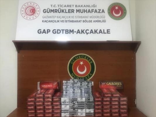 Şanlıurfa'da bin 250 paket kaçak sigara yakalandı