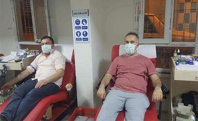 Viranşehir'de hastane personelinden kan bağışı
