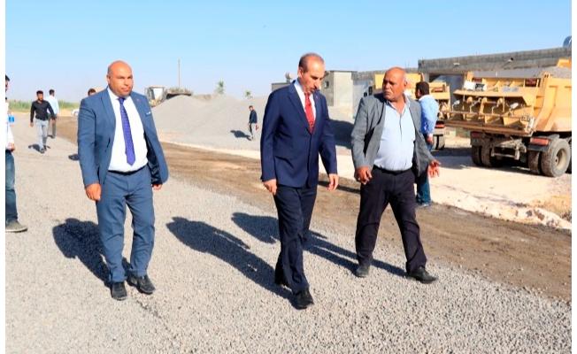 Akçakale'nin en büyük grup yolu asfaltlandı
