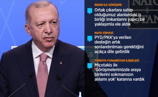 Erdoğan NATO zirvesini değerlendirdi