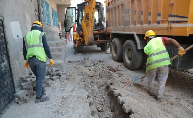 Eyyübiye'de doğalgaz çalışmaları sürüyor