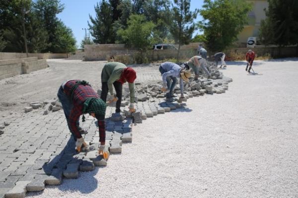 Haliliye'de Sökülen Parke Taşları Yeniden Değerlendiriliyor