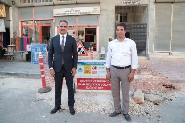 Eyyübiye'de doğalgaz çalışmaları devam ediyor