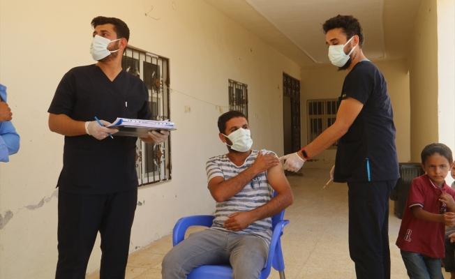 Harran'da Arapça anonslarla aşı daveti