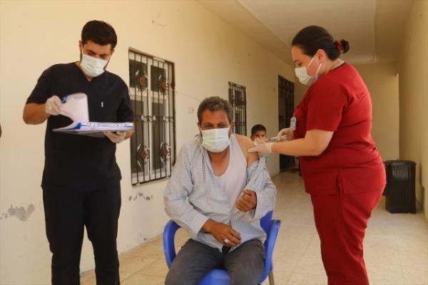 Harran'da Arapça Anonslarla Aşı Duyurusu Yapıldı