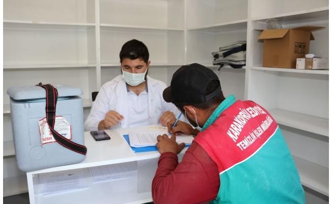 Karaköprü'de Belediye Personeli Aşı Oldu