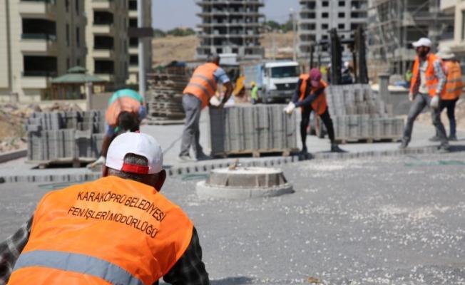 Karaköprü'de yeni yollar hizmete hazırlanıyor