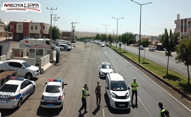 Şanlıurfa'da drone ile trafik denetimi