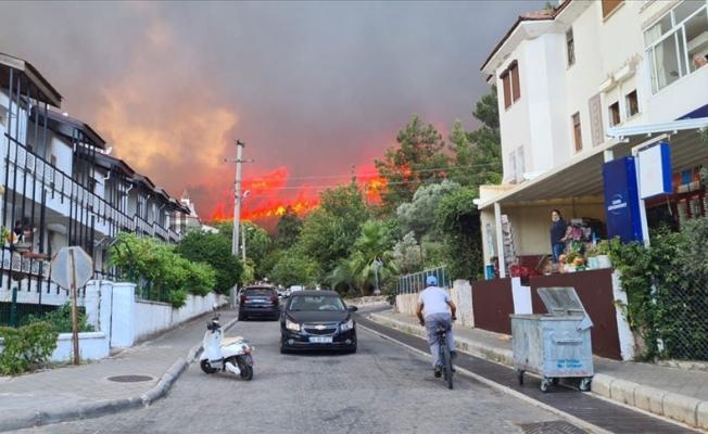 Şimdi de Milas'ta yangın başladı