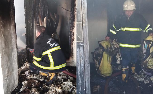 Siverek'te ev yangını hasara neden oldu