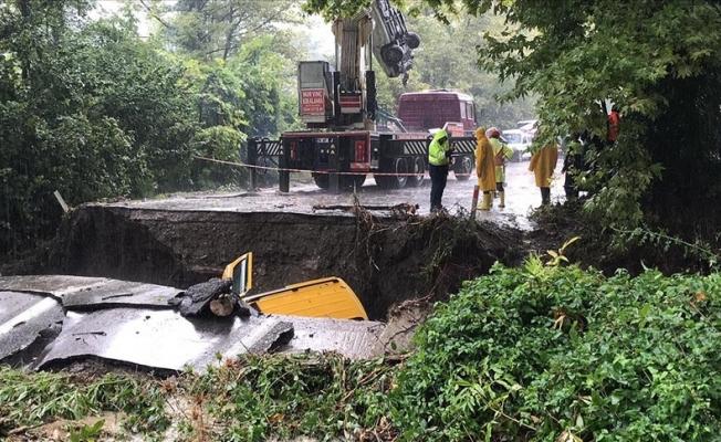 Karadeniz'i şiddetli yağış vurdu