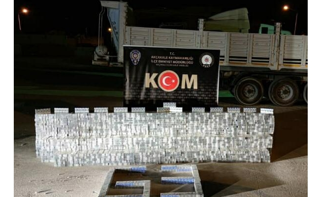 Şanlıurfa'da 21 bin 985 paket kaçak sigara yakalandı