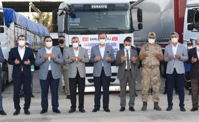 Urfa'dan Kastamonu'ya 9 tır ve 1 kamyon yardım