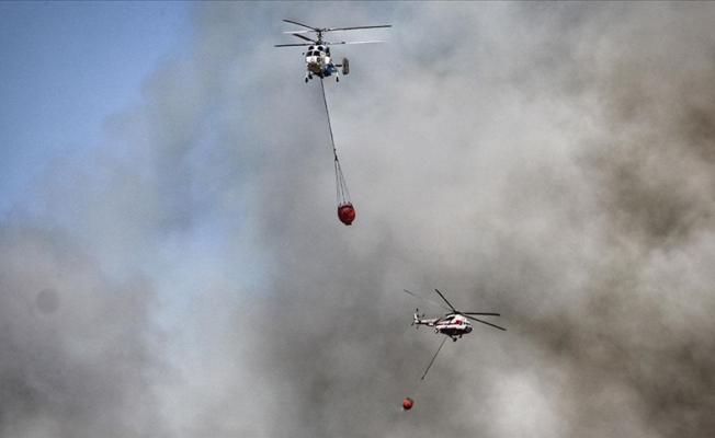 Yangınlarda 16 uçak, 9 İHA, 51 helikopter kullanılıyor